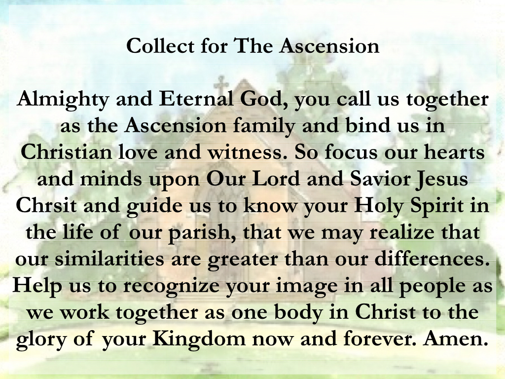 Ascension Prayer | The Episcopal Church of the Ascension