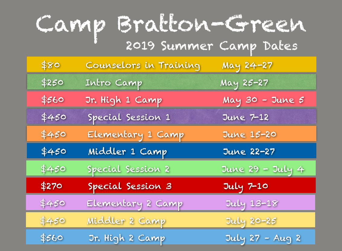 summer camp daily schedules