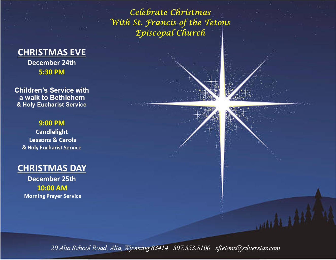 Boise Christmas Eve Church Services 2020 Upcoming Events | All Saints Boise