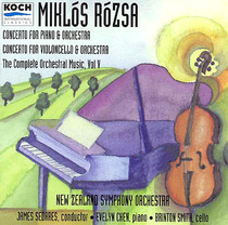 Rózsa: Concertos for Piano and Cello