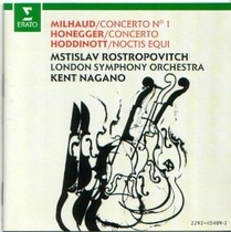 Milhaud, Honegger, Hoddinott: Cello Concertos