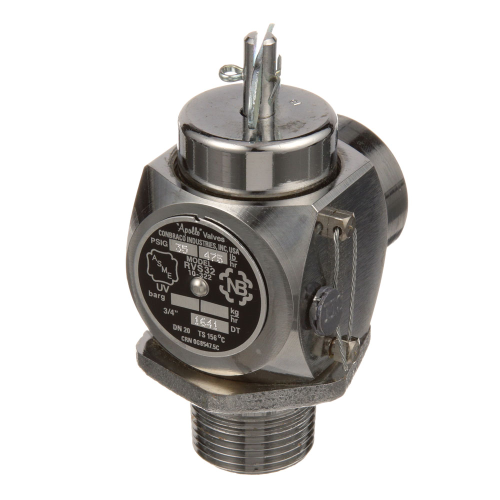 """166-1179 - VALVE,SAFETY RELIEF, 3/4"""",35PSI"""
