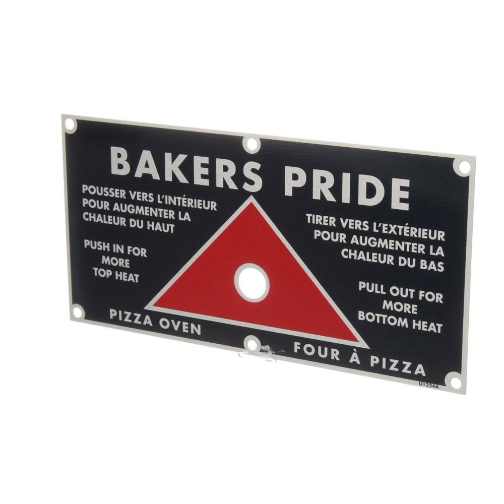 BAKERS PRIDE - U1224A - PLATE