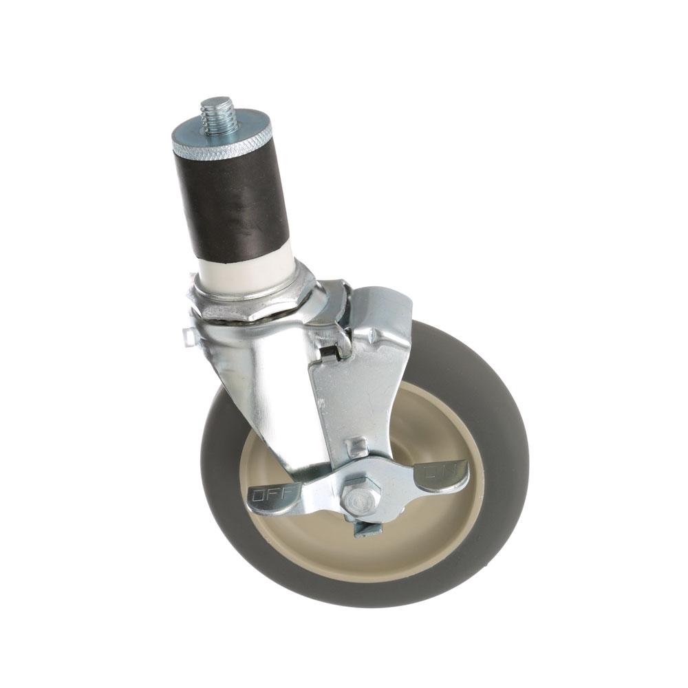 26-2395 - SWIVEL STM CASTR W/BRK 5 W  1-5/8 OD TUBING