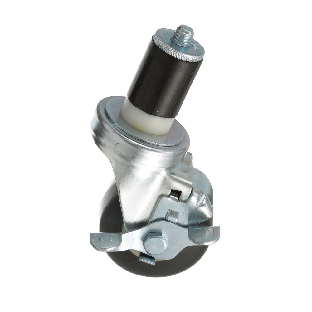 26-2401 - SWIVEL STM CASTR W/BRK 3 W  1-1/2 OD TUBING