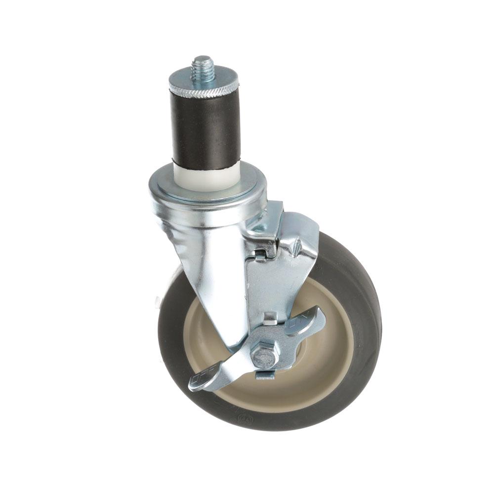 26-2407 - SWIVEL STM CASTR W/BRK 5 W  1-5/8 OD TUBING