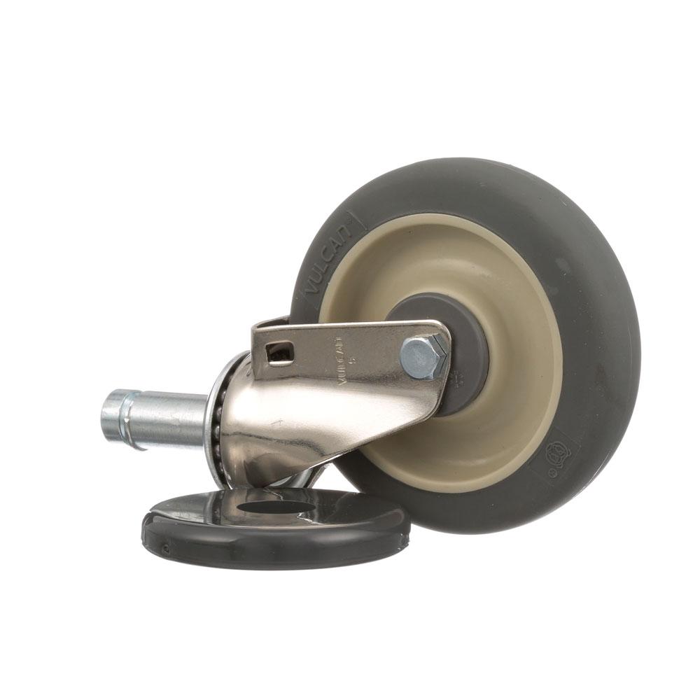 """26-2920 - STEM CASTER (NO BRAKE) 5"""" WHEEL FOR 1"""" TUBING"""