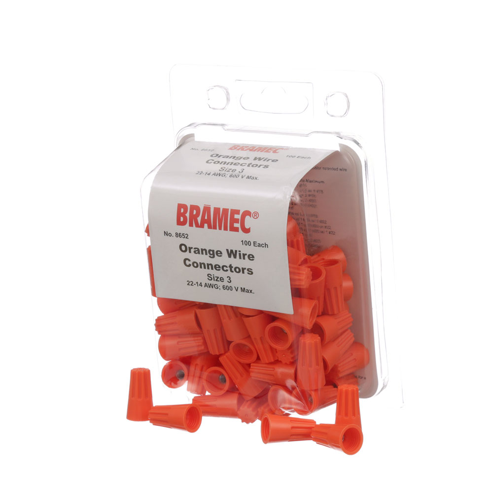 28-1663 - NUTS, WIRE - ORANGE (100/Pkg)