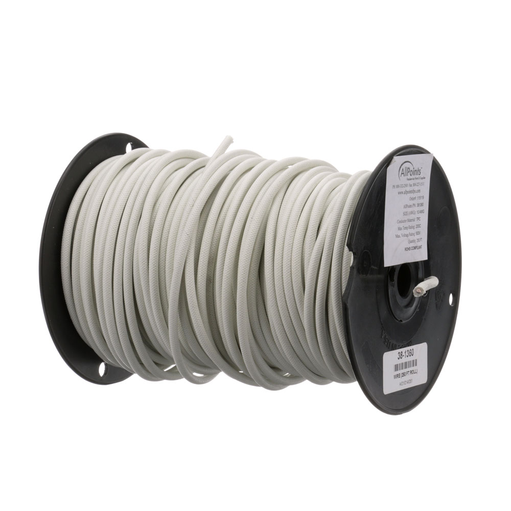 38-1360 - WIRE (250 FT ROLL) #10 SF2 WHITE