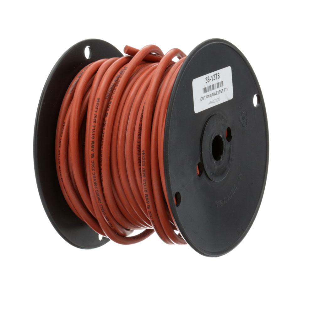 38-1378 - IGNITION CABLE (PER FT) 20 GA 250C RED