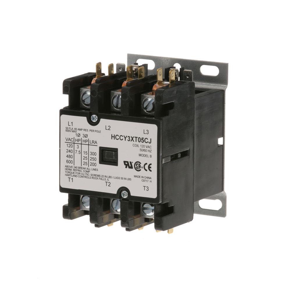 44-1089 - CONTACTOR 3P 50/65A 120V