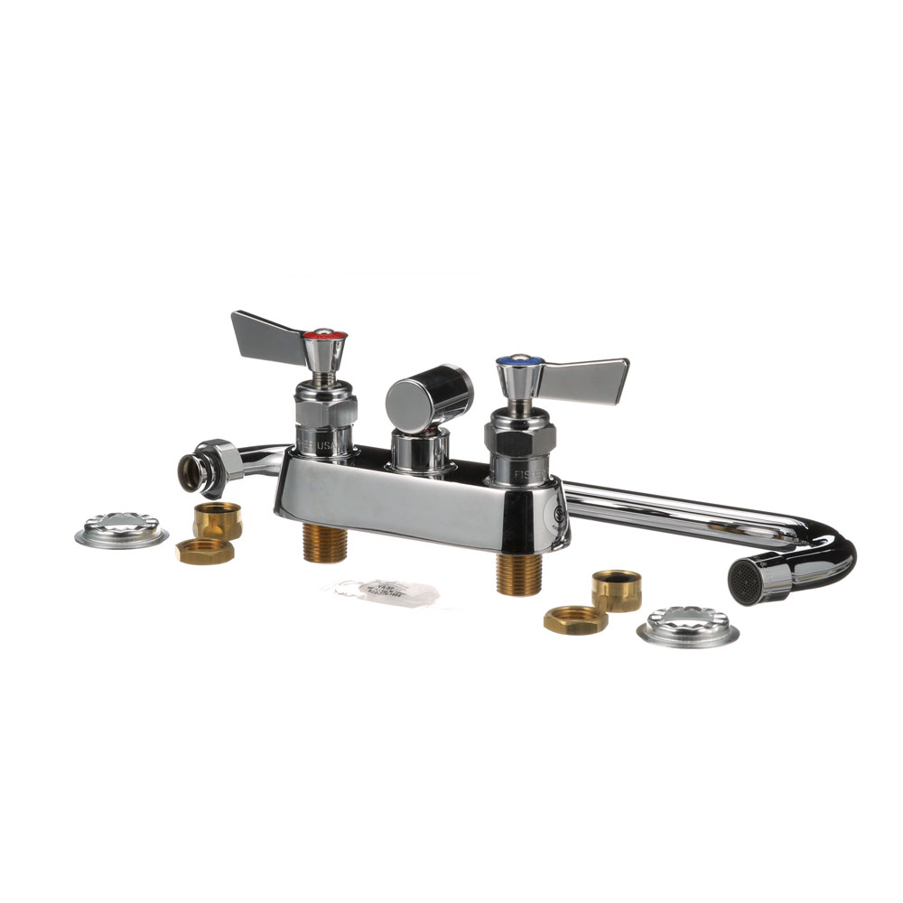 "FISHER MFG - 3613 - WALL MOUNTED FAUCET 4"" CTR WALL 12"" NOZ"