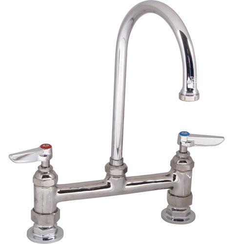 "T&S - B-0320 - FAUCET,8""DECK, GSNK,LEADFREE"