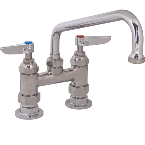 "T&S BRASS - B-0227 - FAUCET,4""DECK, 8""SPT,LEADFREE"