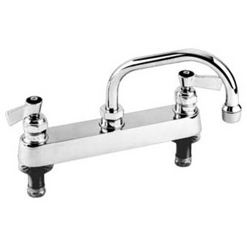 "FISHER MFG - 57649 - FAUCET,8""DK, LEAD FREE,SS,8""SP"