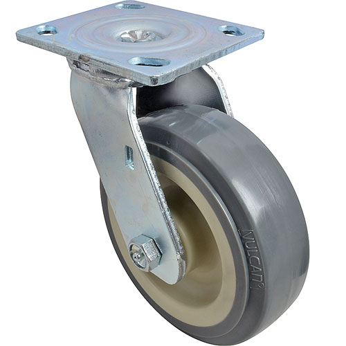"""120-1150 - CASTER,PLATE (6"""", GRY)"""