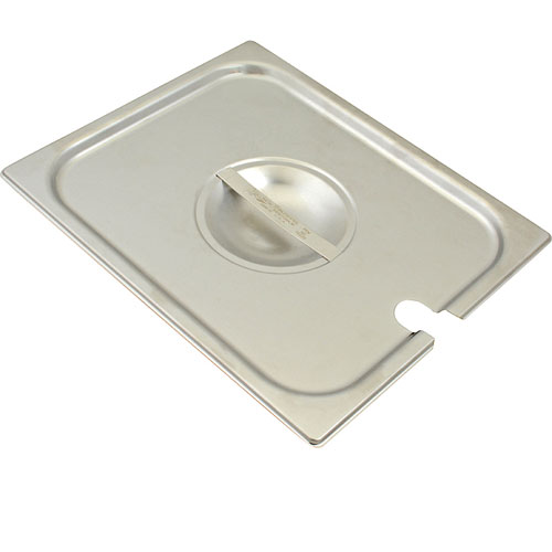 133-1642 - SS LID W/NOTCH  FOR 1/2 SIZE PAN