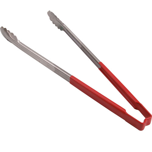 "137-1208 - TONGS,SCALLOP, 16"",RED HDL"