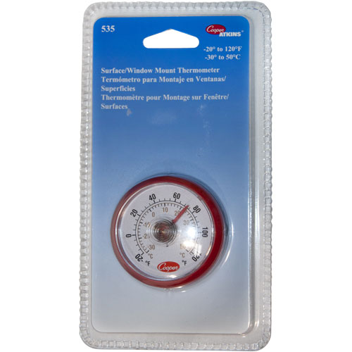 """COOPER ATKINS - 535-0-8 - THERMOMETER 2""""OD, -20/12 0F SURFACE MOUNT"""