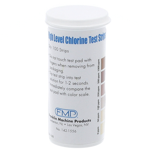 142-1556 - STRIPS,CHLORINE TEST, HI,100