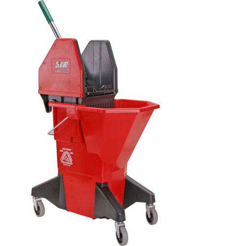 159-1100 - BUCKET,MOP, RED,W/GRN WRINGR