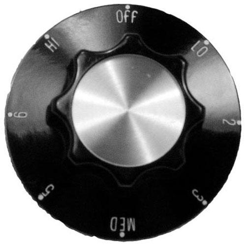 STAR MFG - 2R-A710E8761 - KNOB 2-1/4 D, OFF-LO-2-6-HI