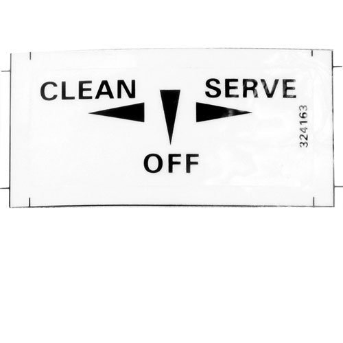STOELTING - 324798 - DECAL - CLEAN/OFF/ON