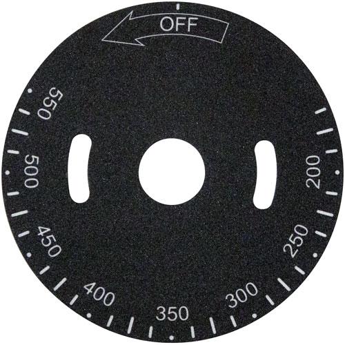 228-1298 - PLATE,TEMP DIAL, 200-550F