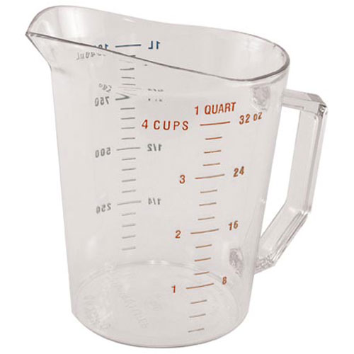 247-1083 - CUP, MEASURING, 1QT, CLEAR PLASTIC