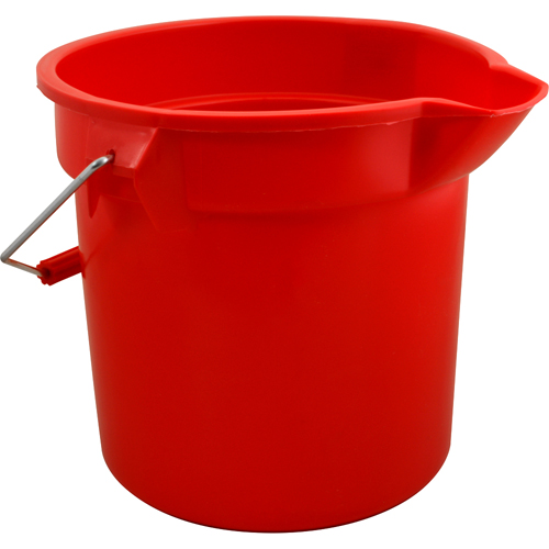 "RUBBERMAID - FG261400RED - BUCKET 14 QT, 12""OD, RED"