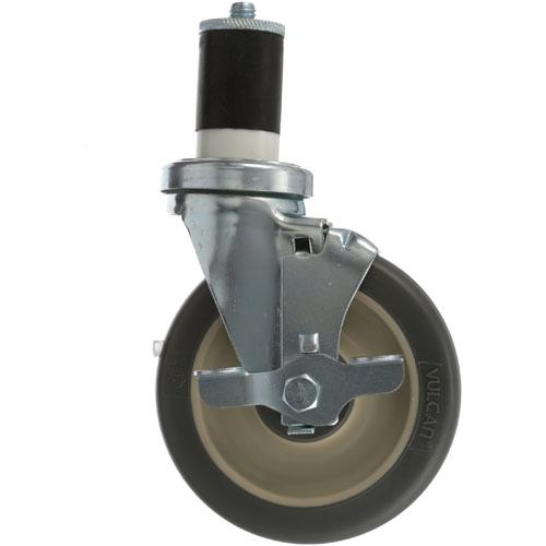 26-2411 - SWIVEL STM CASTR W/BRK 5 W  1-5/8 OD TUBING