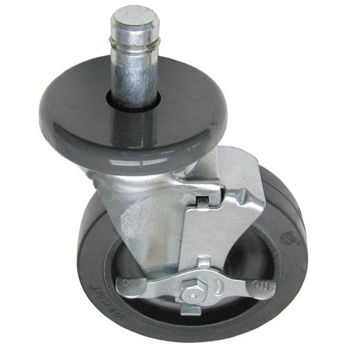 "26-2923 - STEM CASTER (W/BRAKE) 5"" WHEEL FOR 1"" TUBING"