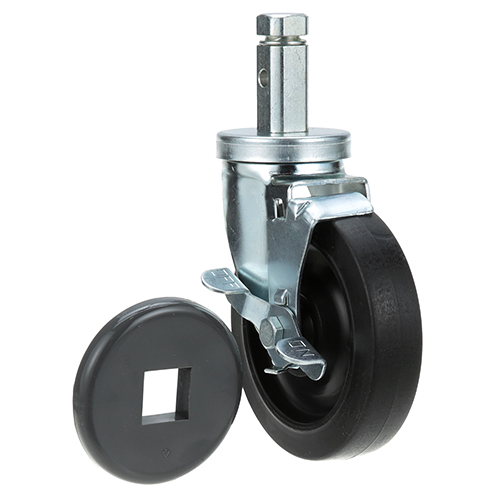 26-3254 - CASTER, SQUARE POST - W/BRAKE & BUMPER