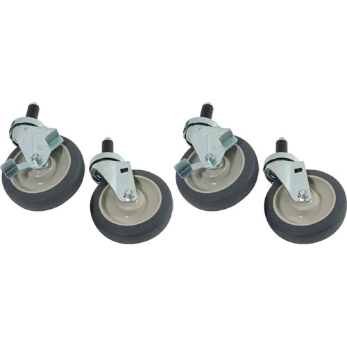 "26-4706 - STEM CASTER SET (4), 5"" STD DUTY, 1"" EXP STEM"