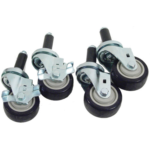 "26-4707 - STEM CASTER SET (4), 3"" STD DUTY, 1"" EXP STEM"