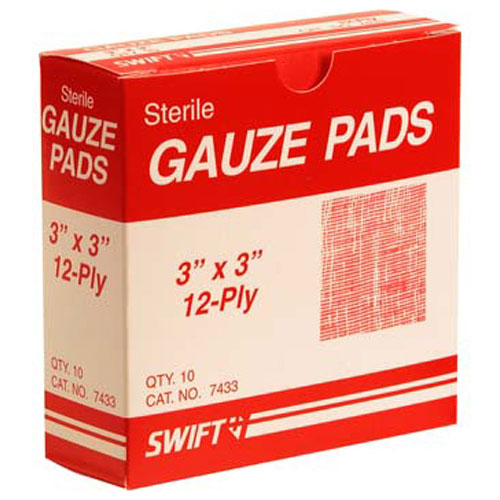 "280-1528 - PADS,GAUZE, 3""X3"", BOX OF 10"