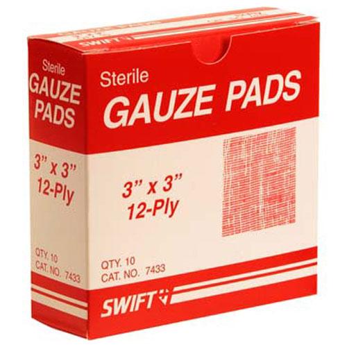 "280-1528 - PADS,GAUZE, 3""X3"", BOX OF 10"