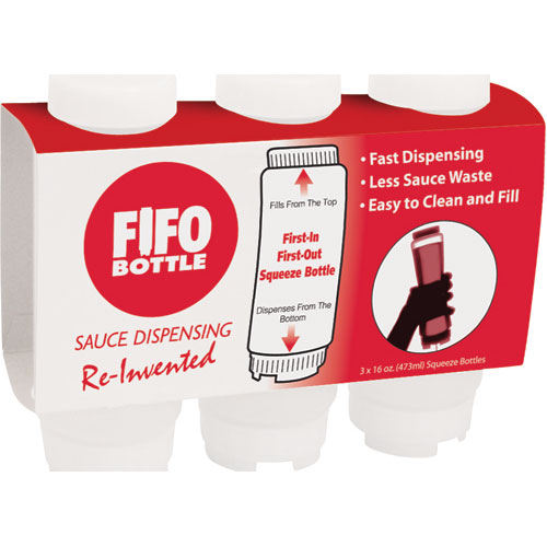 280-1819 - BOTTLE,FIFO, 16 OZ,NSF,STD3 PK