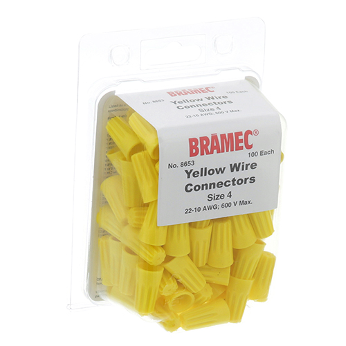 28-1678 - NUTS, WIRE - YELLOW (100/Pkg)