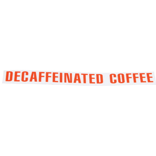 BUNN - 00879.0000 - DECAL - DECAFFEINATED