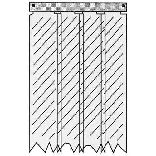 32-1853 - KASON - 402LA8083884  STRIP CURTAIN-EASIMNT
