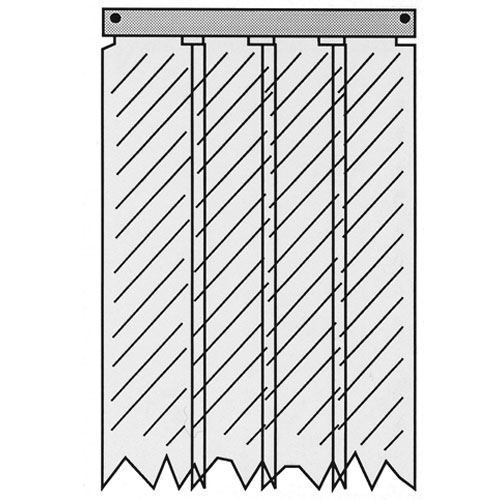 "32-2181 - CURTAIN,STRIP   4"", 31X84"",TF"