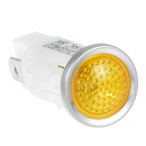 """38-1077 - SIGNAL LIGHT 1/2"""" AMBER 250V"""