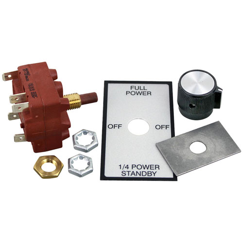 "STAR MFG - SP-115142 - ROTARY SWITCH KIT 3/8"" DPDT CTR-OFF"