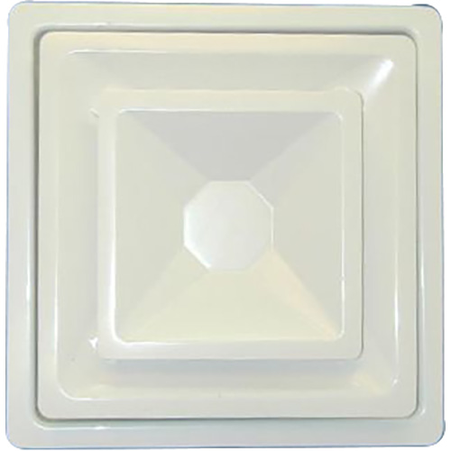 """556-1019 - AIR DIFFUSER, 15"""" 4WAY (8""""NECK, WHITE, W/ FRM)"""