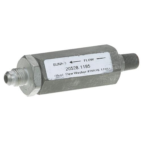 BUNN - 20528.1195 - FLOW CONTROL ASSY 1/4FLX1/8MPT, .195GPM