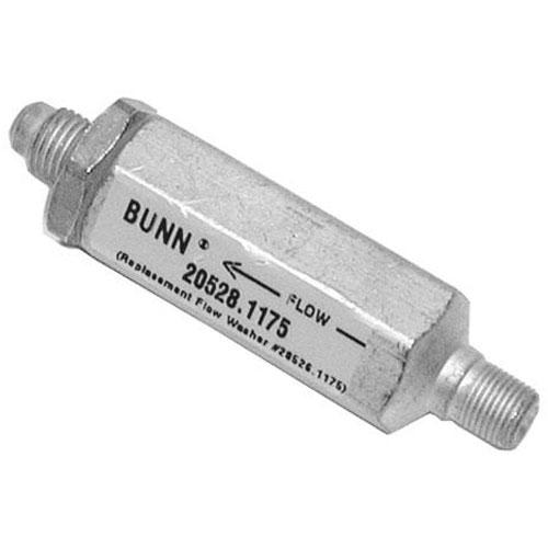BUNN - 20528.1222 - FLOW CONTROL ASSY 1/4FLX1/8MPT, .222GPM