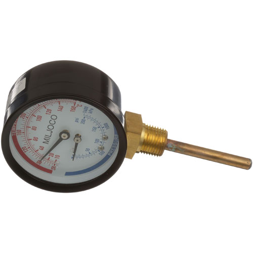 62-1004 - PRESS/TEMP GAUGE 3, 50-290 F, 0-200 PSI