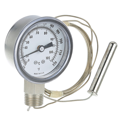 62-1019 - THERMOMETER 2-7/8, 20-220F,  1/2 MPT
