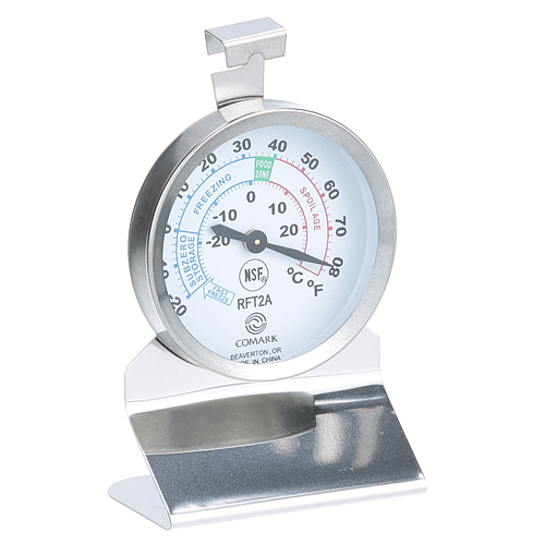 "62-1023 - REFRIGERATION THERMOMETE 2.25 X 2.25"", -20 TO 80F"